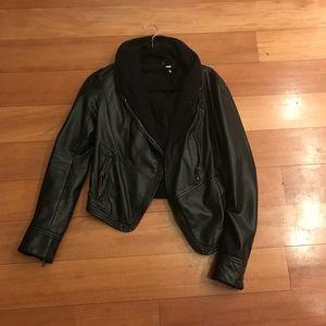 Free People Black Vegan Leather Jacket